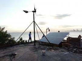 风光互补监控发电系统 水库视频监控方案 英飞风力发电机