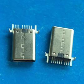 Type C贴片3.1公头USB 9P沉板贴片SMT 铆合-拉伸 贴板 快充