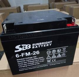 SBB圣豹蓄�池6-FM-26尺寸�f明12V26AH配���急