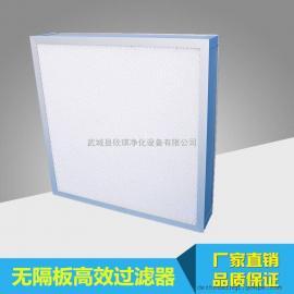洁净室末端用无隔板高效空气过滤器 手术室净化高效过滤器