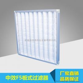 F5中效板式空气过滤器 铝框无纺布板式空气过滤器