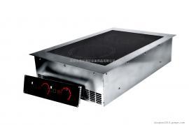 双头嵌入式电磁炉PRECISE BID-3500D嵌入式双头平板电磁炉
