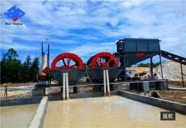 海沙淡化设备 轮式洗石粉机械 破碎水洗沙生产线
