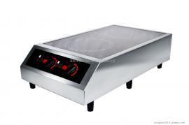PRECISE TTD-3500 桌上型双头电磁炉 不锈钢外壳 商用电磁炉