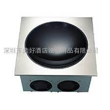 商用重型电磁炉PRECISE BIW-5000N 不锈钢外壳 凹形炒菜电磁炉