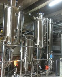 大麻CBD提取浓缩设备 单效外循环降膜蒸发浓缩器