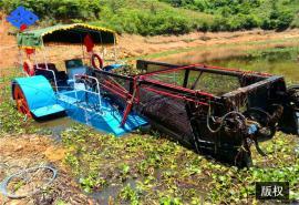 水葫芦打捞船 芙蕖水浮莲收集清理船 自动运草船