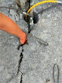 洞采破石头机器劈裂棒