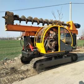 光伏基础桩钻桩机 履带式全地形光伏钻桩打孔机 *新7米钻桩机价