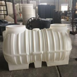 2立方白色滚塑化粪池一体化 三相分离化粪池PE化粪池图片