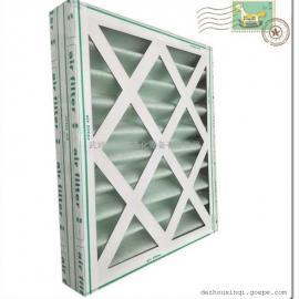 信贝密褶式纸壳空气过滤器 纸壳初效复合网板式空气过滤器