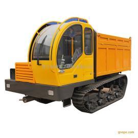 8吨四驱履带运输车 四缸拉毛竹履带运输车 实心支重轮履带运输车