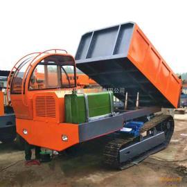 强牵引力钢制履带车 水利工程钢制履带运输车 钢制链轨式自卸车