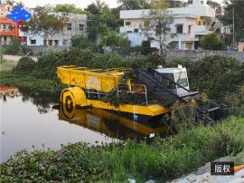 河道垃圾清理设备 河道清淤船 水陆两栖保洁船