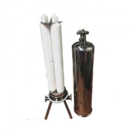 纯化水用不锈钢微孔膜过滤器0.22um高精度用水处理