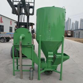 立式500公斤饲料混合拌料机 养殖用玉米粉碎搅拌一体机