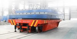 厂商定制 重型轨道电动平板车 牵引平板车 低压轨道拐弯平车
