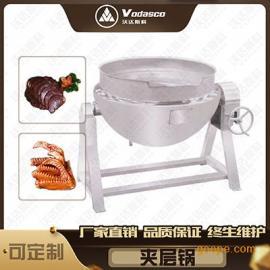 卤牛肉 卤制品专用设备 可倾斜式蒸汽夹层锅
