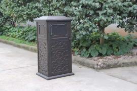 金属垃圾桶铸铝材质垃圾桶户外铸铝垃圾桶供货联系方式