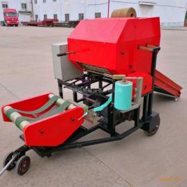 青储秸秆青贮打捆机 养殖场专用打捆包膜机
