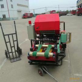 苜蓿草饲料秸秆青储加工机械 全自动牧草打捆包膜机