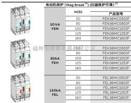 FEH36TA032JF美国GE断路器GB160H3ET032