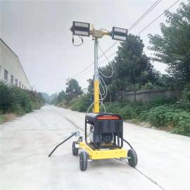 柴油发电机组LED移动照明车夜间施工应急工程照明设备