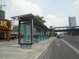 候车亭定制 防风抗震碳钢候车亭公交站棚制作