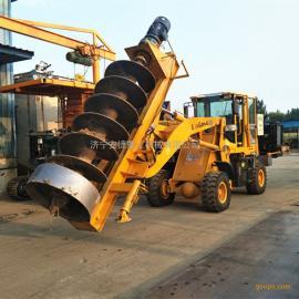 生产装载式电线杆打桩机 液压螺旋钻桩机 电线杆载桩挖坑机