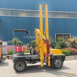 新款小型护栏打桩机 公路波形护栏引孔机 小四轮护栏打桩机