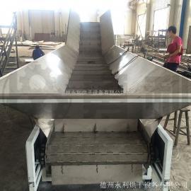 重型输送机-不锈钢链板输送机-链板式传送带