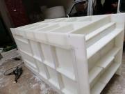 商洛PP板加工 延安塑料板定制 榆林过滤槽 韩城水罐水槽水箱定做