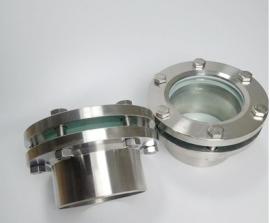 JB595-64 带颈视镜 碳钢玻璃管视镜 不锈钢法兰焊接视盅