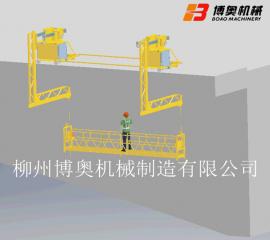 桥梁防撞墙侧面施工平台吊篮/安装水管/灯管/涂装