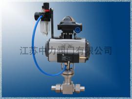 DQ621F焊接式气动低温球阀