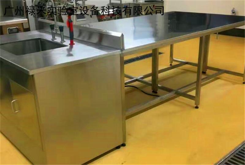 禄米实验室不锈钢实验边台 不锈钢实验台 不锈钢边台实验台