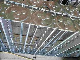 嵘实不磨损强度钢制拖链 链板镀铬处理的钢制拖链