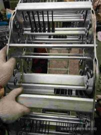 嵘实支撑板钢制拖链 增强钢制拖链可承重数量多的电缆油管