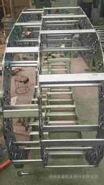 嵘实不变形钢制拖链 链板经镀铬处理外形效果新颖