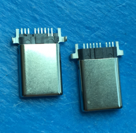 TYPE C 9P公头USB type-c沉板贴片SMT 插头 快充 闪充 贴板