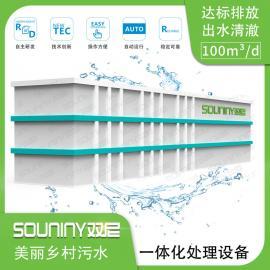 100吨新农村生活污水处理设备 双尼十佳品牌乡村污水处理设备