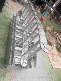 大型压滤机入料钢制拖链 金属机床拖链