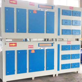 工业废气吸附设备烤喷漆房活性炭环保箱光氧催化一体机