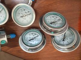 标准全不锈钢轴向带边压力表YTF-60ZQ/Y-60BF-Z指针式带边压力表