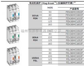 GE通用GE250N4TM125X塑壳断路器FEH37DD025JF