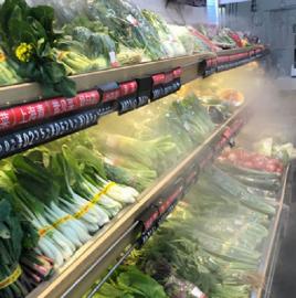 商超瓜果蔬菜加湿保鲜水喷雾设备