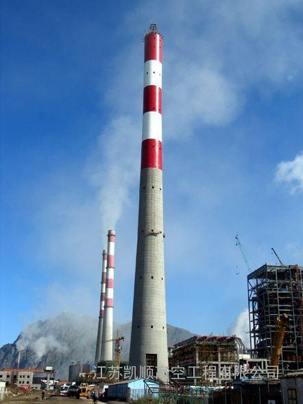 锅炉烟筒外壁防腐  烟囱爬梯爬梯护网维修 烟囱钢结构刷漆防腐