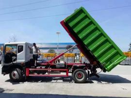 钩臂垃圾车运输5吨6吨粪便车,厢式粪便污泥转运车,型号车价图片
