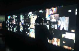 多媒体展厅交互式拼接触摸框,LED小间距拼接屏触摸屏互动