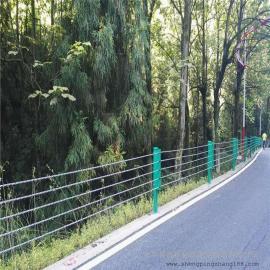 金属绳索护栏 公路交通缆索防撞栏 缆绳护栏